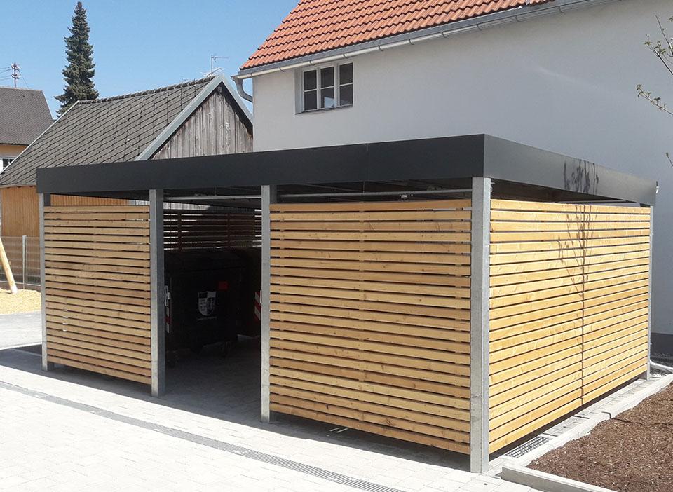 Einhausung-Metall-Holz