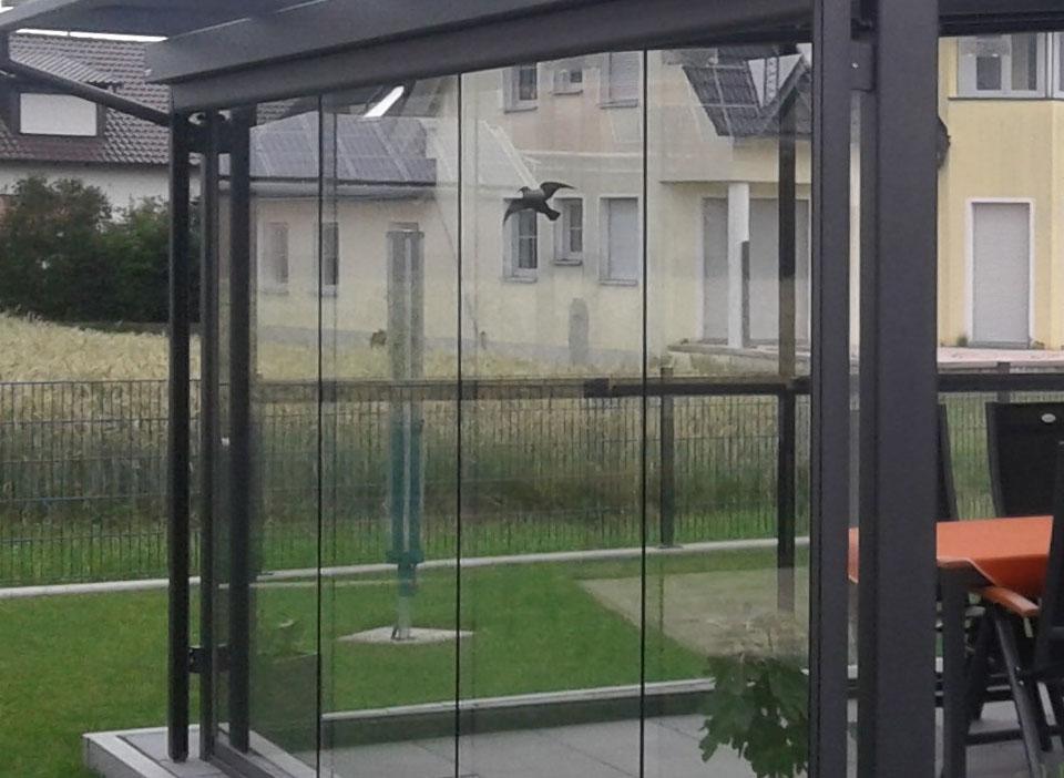 Glasschiebewand-Terrasse